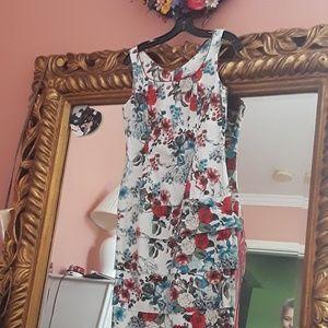 Sheath Floral Dress